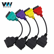 For Fiat ECU extension cable 16 Pin OBD1 to OBD2 Connect Cable Connector Adapter Cable for Fiat OBD2 Diagnostic Adapter