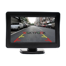 "2 Ways Video Input 4.3"" Inch TFT LCD Display Definition Digital Panel Color Car Rear View Monitor For Rearview front side Camera(China)"