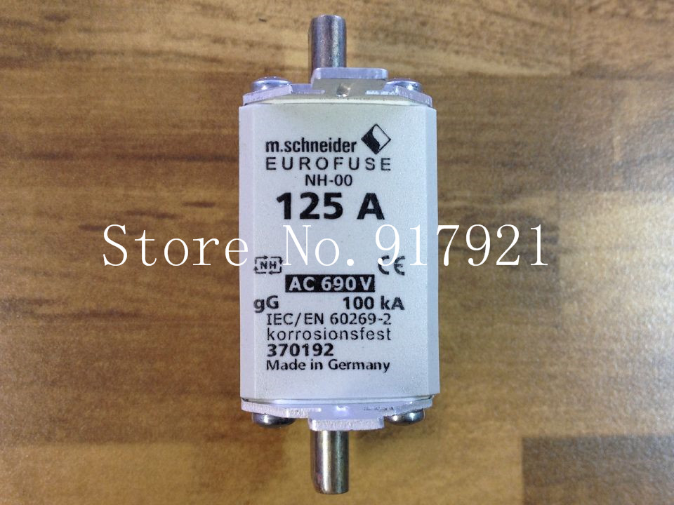 [ZOB] The United States EUROFUSE NH-00 125A BUSS 370192 IEC/EN60269-2 insurance 690V  --3pcs/lot<br>