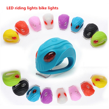 1PCS LED Alien Silicone Bicycle Light Tail Lamp Frog Light LED Warning Bulb Riding Equipment(China)