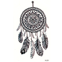 New Feather Waterproof Temporary Tattoos Men Body Arts flash tattoo Sexy Product  Beauty dreamcatcher Makeup Tatoo
