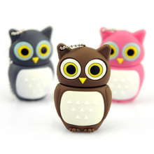 Wholesales genuine cartoon USB, Novel lovely Owl USB Flash Pen Drive 2GB 4GB 8GB 16GB 32GB usb 2.0 memory stick pen thumb/gift(China)