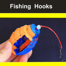 1set Silver Carp Fishing Explosion Hook Bobber Sea Monster with Carbon Steel Six Strong Explosion Hooks Fishing Tackle Tool