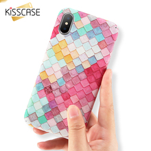 KISSCASE Luxury Mobile Phone Case For iPhone X Scales Squama Hard PC Phone Cases For Apple iPhone X Caso Funda(China)