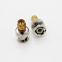 XQF BNC Male to SMA Male RF Coaxial Coax Adapter Barrel Connector (Couplers) SMA-Male to BNC-Male Two Way Radio Antenna Adaptor