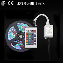 5M 300 Leds SMD3528 LED Strip Light With DC12V Power Adapter & Controller Non-Waterproof Flexible Home Garland Decorative Lamp