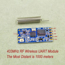 2pcs/lot HC-12 433MHz Wireless Radio Frequency RF Serial UART Module Si4463 AT Command Replace Bluetooth Most Distant 1000Meters