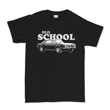New Metal Short Sleeve Casual Shirt Old School Chevy Camaro American Muscle Car T-shirt