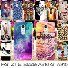 Silicon Mobile Phone Case For ZTE Blade A510 A510 A910 Case A 910 BA910 BA910t Cover Angel Girls Shell Housing For ZTE A910 Case