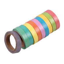 10x Rainbow Solid Color Washi Sticky Paper Masking Adhesive Printing Scrapbooking Deco DIY Tape Holiday Decorations