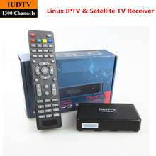 Linux OS IPTV Box Full HD DVB-S2 Satellite TV Receiver H.265 Multimedia Combo Receiver Support Cccam Better Than Mag250 Mag 254