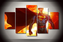 New Fashion 2017 Canvas Painting Superman Game Poster Wall Art Modular Pictures Home Decor Wall Pictures For Living Room Cuadros(China)