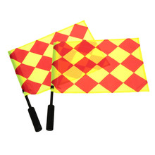 2Pcs Soccer Referee Flag The World Cup Fair Play Use Sports Match Football Linesman Judge Sideline Flags Referee Equipment(China)