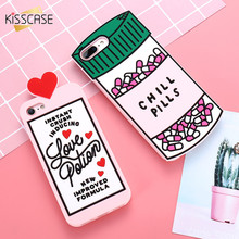 KISSCASE 3D Cartoon Soft Silicon+Love Heart Phone Cover For iPhone 7 6 6S 8 Plus Case For iPhone 5 5S SE Cases Phone Shell Capa(China)