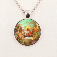 Blessed Virgin Mary Mother of Baby Necklace Jesus Christ Christian Pendant Catholic Religious Glass Tile Necklaces Pendants HZ1