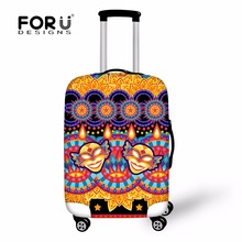 Fashion Bohemia Trolley Suitcase Cover Elastic Luggage Protective Covers For 18-30 Inch Trunk Case Skull Head Travel Accessories