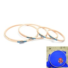 DIY Needlecraft Cross Stitch Machine Bamboo Frame Embroidery Hoop Ring Round Loop Hand Household Sewing Tools(China)