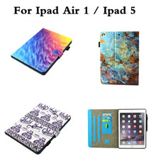 For Cute protection Case iPad Air 1 flip coque Printed Fashion PU Leather Fruits Cover for iPad Air1 ipad5 with Card Slot Case