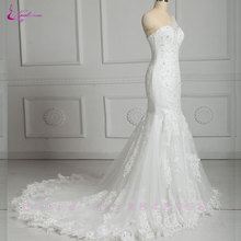 Buy Waulizane Featuring Appliques Sexy Mermaid Wedding Dress Vestido Shininy One Shoulder Chapel Train 2017 Bridal Gown Plus Size for $217.87 in AliExpress store