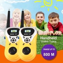 2pcs/lot Professional Intercom Electronic Walkie Talkie Kids Child Mni Handheld Toys Portable Two-Way Radio Drop Shipping