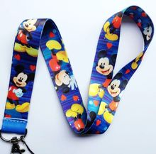 Lot 10Pcs Cartoon Mickey Mobile Cell Phone Lanyard Neck Straps Party Gifts A53(China)