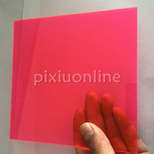 J589b Transparent Acrylic Board Red Super Clear High Quality 15*15cm Square Plastic Sheets Sale at a Loss Italy France