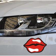 car Styling Sexy Lips Car stickers and Decal for Toyota Chevrolet cruze Volkswagen skoda Tesla Hyundai Kia Lada(China)