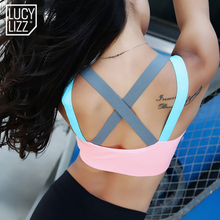 Fitness Yoga Push Up Sports Bra for Womens Gym Running Padded Tank Top Athletic Vest Underwear Shockproof Strappy Sport Bra Top(China)