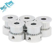 GT2 20 tooth Timing Pulley Aluminum 3D Printer Parts 2GT 20teeth Bore 5mm Width 6mm Part Synchronous Wheel Gear with Screw Teeth(China)