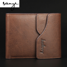 The New Leisure Man Retro Fashion Velcro Wallet Purse Cross Multifunctional Wallet