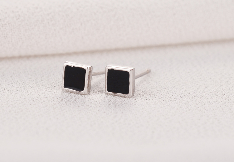 New Arrivals 925 Sterling Silver Heart Triangle Square Earrings For Women Hot Fashion Jewelry sterling-silver-jewelry pendientes
