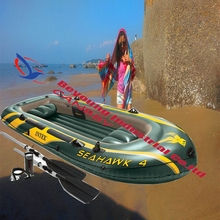 Intex Seahawk 4 person inflatable rubber boat For fishing/rescue(China)