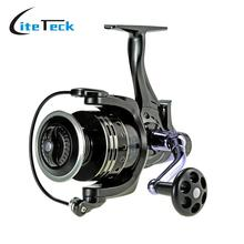 COONOR Fishing Reel Spinning Reel 11+1 Ball Bearings 4:7:1 Pesca Bait for Fresh Salt Water Dual Brake Right/Left Hand Aluminum
