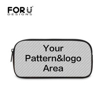 FORUDESIGNS Customize Your Image Student Fashion Pencil Bag For Girls Boys Children School Pen Box  Women Travel Cosmetic Bag