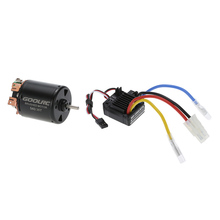 GoolRC 540 35T 4 Poles Brushed Motor and WP-1060-RTR 60A Waterproof Brushed ESC with 5V/2A BEC for 1/10 RC Car