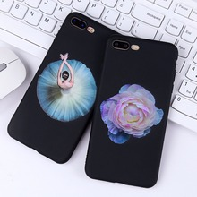 Buy Boucho TPU Phone Case iphone X 6 6s 7 8 Plus Ballet Girl Pattern Back Cover Soft Silicone Cases Iphone 7 7plus 8plus for $2.19 in AliExpress store