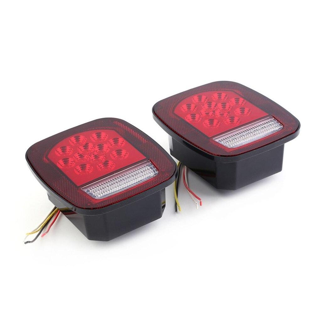 Universal 2pcs 39 LED 12V Truck Cars Vehicles Stop Turn Warning Tail Light Waterproof Brake Stop Reverse Light Indicator Lamp<br>