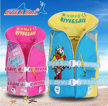 Dive&Sail Kids Swimming Life Vest Float Buoyancy Drifting Safety Foam Life Jacket Boating Snorkeling Drifting Kids Life Jacket(China)
