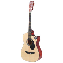 "38"" 6-String Folk Acoustic Guitar for Beginners Music Lovers Students Gift(China)"