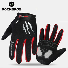 ROCKBROS Cycling Gloves Sponge Pad Long Finger Motorcycle Gloves For Bicycle Mountain Bike Glove Touch Screen MTB Gloves(China)