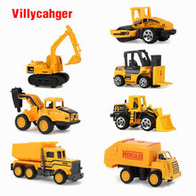 7pcs/set 1:64 Diecasts Mini Construction Vehicle Engine Alloy Model Car Baby Children Toy Car Hot Wheels Cars Machines Kid toy(China)