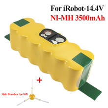 Sweeper Power Tool Battery For iRobot Roomba 500 Series 780 14.4V 3500mAh NI-MH Batteries Pack for 530 610 770 + Side Brushes