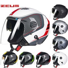 2016 New Taiwan ZEUS dual lens Half face motorcycle helmet ABS motorbike electric bicycle helmets sunscreen Seasons 202FB(China)