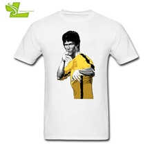 Forever Martial Artist Kung Fu Bruce Lee T Shirt Teenage New Coming Tshirt Leisure T-Shirts Men's O Neck Novelty Teenboys Top(China)