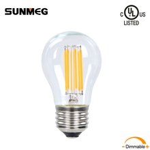 Sunmeg E26 LED Light Bulbs Dimmable Filament Candelabra Lamp A15 6W 110V Clear Glass Vintage Edison Style for Home Appliances
