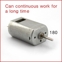 10PCS New square hole 180 High speed fan motor Micro DC carbon brush motor large torque,stable,long Life