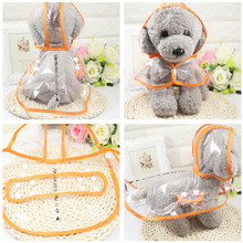 Fashion Pet Clothes Dog Raincoat Transparent Rain Coat Waterproof Pets Raincoats Small Dogs Clothing XS-2XL Hot Sale(China)