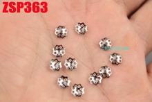 5.3mm stainless steel bead cap cinquefoil  fashion jewelry parts earring Components 500pcs ZSP363