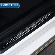 Accessories Door Sill Scuff Plate Guards Carbon Fiber Door Sills Protector Stickers For bmw F10 F30 F34 E70 X1 X5 X6 Car Styling(China)