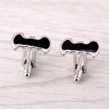J Store Black Batman Cufflinks For Men French Shirt Male Novelty Design Superheroes Zinc Alloy Cuff Link Fashion Jewelry